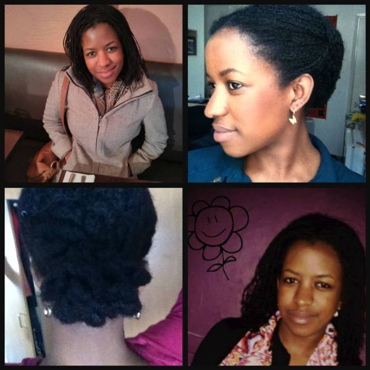A compilation of pictures of Sira's protective styles.